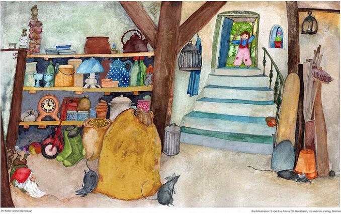 kinderposter m use im keller vom e m ott heidmann kinderpostershop. Black Bedroom Furniture Sets. Home Design Ideas