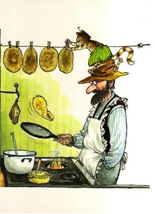 Pancake Pie by Sven Nordqvist (1985, Hardcover) Pannkakstartan