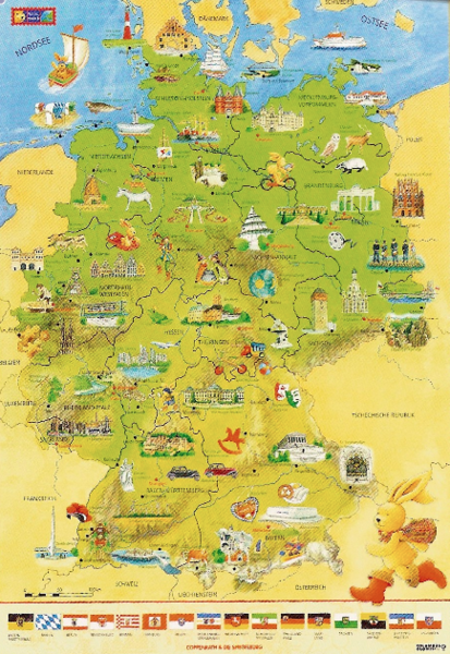 Felix Germany Map Kinderpostershop De
