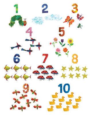 Zahlen Poster von Eric Carle im Kinderpostershop kaufen