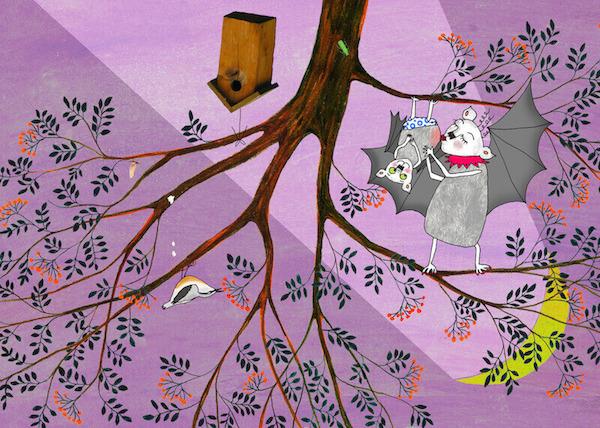 fledolin postkarte illustrationen von antje damm im kinderpostershop. Black Bedroom Furniture Sets. Home Design Ideas