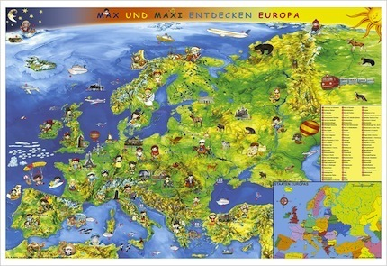 Europe map for young children