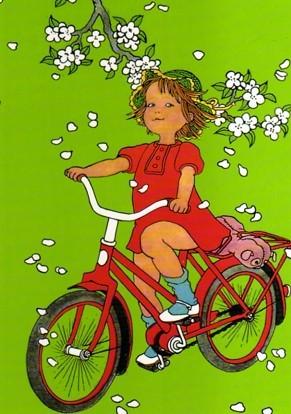 Poster lotta kann radfahren kinderzimmer deko im for Kinderzimmer lotta