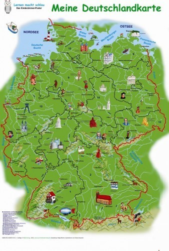 Kinderdeutschlandkarten Im Kinderpostershop Online Bestellen