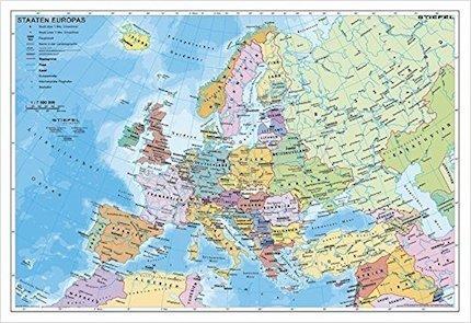 Karte Von Europa.Staaten Europas