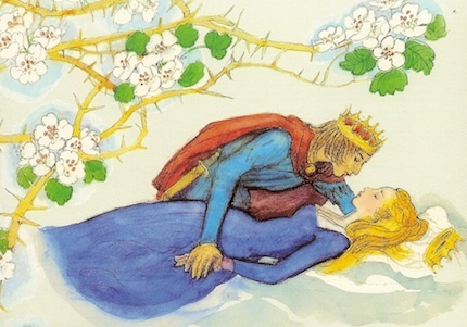 Sleeping beauty and prince