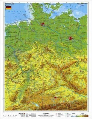 Europakarte Mit Landern Flussen Gebirge Im Kinderpostershop