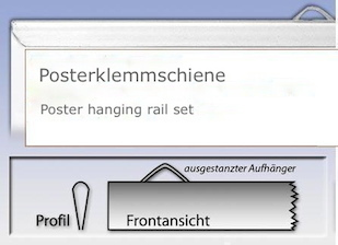 Poster hanging rail set 59.4 cm
