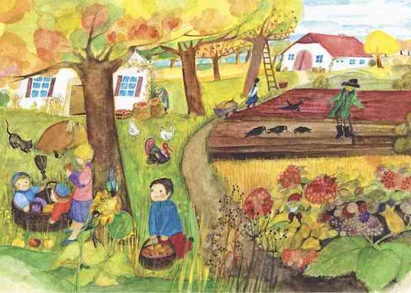 postkarte herbstbild von emottheidmann im