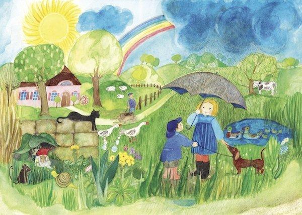 e2b09ce5656836 Postkarten mit Frühlingsmotiven für Kinder im Kinderpostershop kaufen
