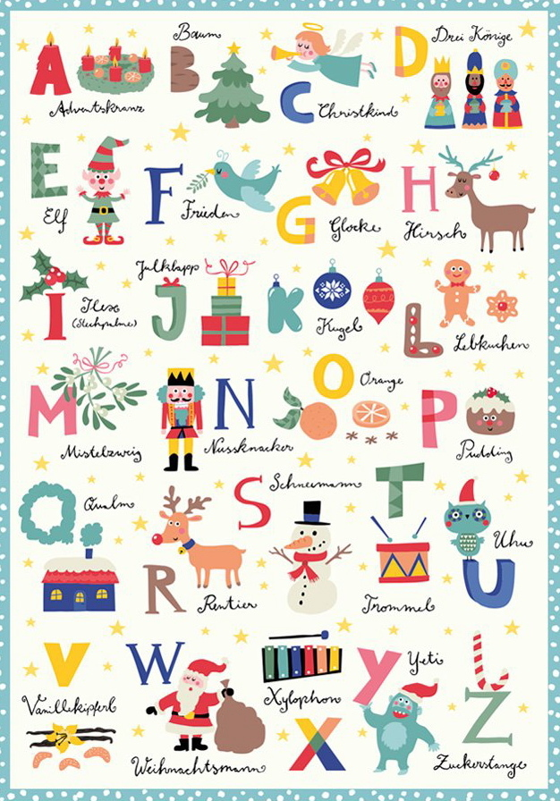 Poster mit Weihnachts-ABC