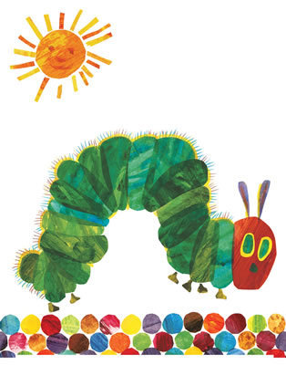Very Hungry Caterpillar Butterfly Clipart