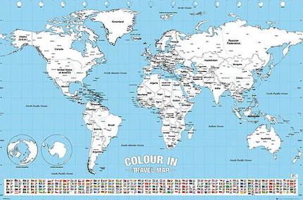 Colour in travel map