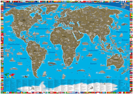 Maps in the kid\'s poster shop