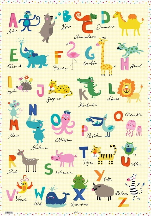 Kinderposter-lustiges-Tiere-ABC